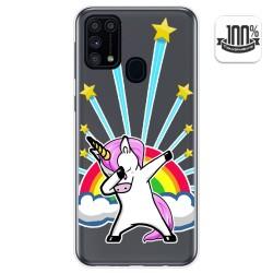 Funda Gel Transparente para Samsung Galaxy M31 diseño Unicornio Dibujos