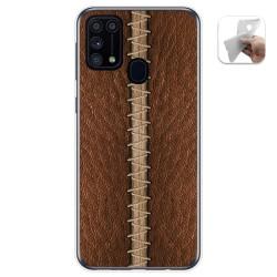 Funda Gel Tpu para Samsung Galaxy M31 diseño Cuero 01 Dibujos