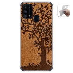 Funda Gel Tpu para Samsung Galaxy M31 diseño Cuero 03 Dibujos