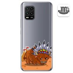 Funda Gel Transparente para Xiaomi Mi 10 Lite diseño Bufalo Dibujos