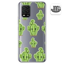 Funda Gel Transparente para Xiaomi Mi 10 Lite diseño Cactus Dibujos