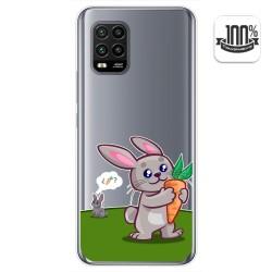 Funda Gel Transparente para Xiaomi Mi 10 Lite diseño Conejo Dibujos