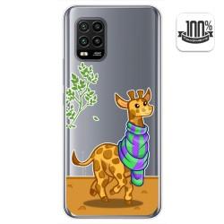 Funda Gel Transparente para Xiaomi Mi 10 Lite diseño Jirafa Dibujos