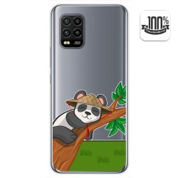 Funda Gel Transparente para Xiaomi Mi 10 Lite diseño Panda Dibujos