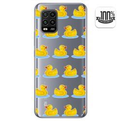 Funda Gel Transparente para Xiaomi Mi 10 Lite diseño Pato Dibujos