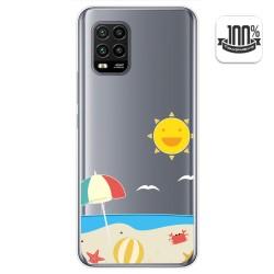 Funda Gel Transparente para Xiaomi Mi 10 Lite diseño Playa Dibujos