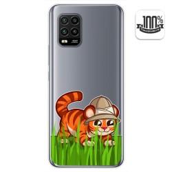 Funda Gel Transparente para Xiaomi Mi 10 Lite diseño Tigre Dibujos