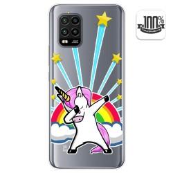 Funda Gel Transparente para Xiaomi Mi 10 Lite diseño Unicornio Dibujos