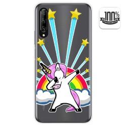 Funda Gel Transparente para Huawei P Smart Pro diseño Unicornio Dibujos