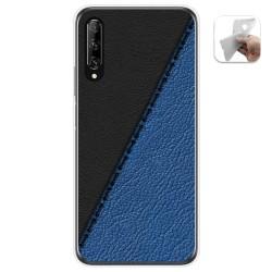 Funda Gel Tpu para Huawei P Smart Pro diseño Cuero 02 Dibujos