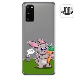 Funda Gel Transparente para Samsung Galaxy A41 diseño Conejo Dibujos
