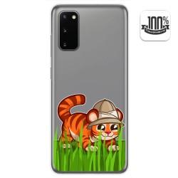 Funda Gel Transparente para Samsung Galaxy A41 diseño Tigre Dibujos