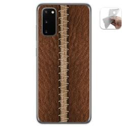 Funda Gel Tpu para Samsung Galaxy A41 diseño Cuero 01 Dibujos