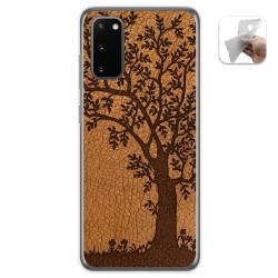 Funda Gel Tpu para Samsung Galaxy A41 diseño Cuero 03 Dibujos