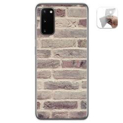 Funda Gel Tpu para Samsung Galaxy A41 diseño Ladrillo 01 Dibujos