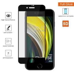 Protector Cristal Templado Completo 5D Full Glue Negro para Iphone SE 2020 Vidrio
