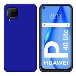 Funda Silicona Gel TPU Azul para Huawei P40 Lite