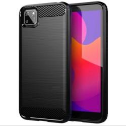 Funda Gel Tpu Tipo Carbon Negra para Huawei Y5p
