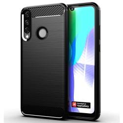 Funda Gel Tpu Tipo Carbon Negra para Huawei Y6p