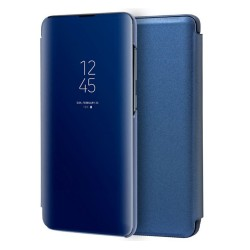 Funda Flip Cover Clear View para Huawei P40 Lite color Azul