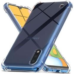 Funda Gel Tpu Anti-Shock Transparente para Samsung Galaxy A01