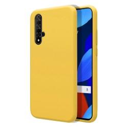 Funda Silicona Líquida Ultra Suave para Huawei Nova 5T / Honor 20 color Amarilla