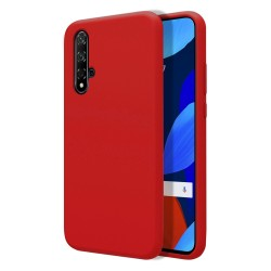 Funda Silicona Líquida Ultra Suave para Huawei Nova 5T / Honor 20 color Roja