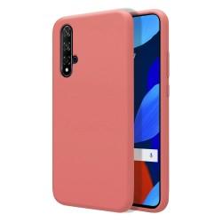 Funda Silicona Líquida Ultra Suave para Huawei Nova 5T / Honor 20 color Rosa