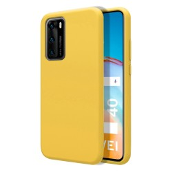 Funda Silicona Líquida Ultra Suave para Huawei P40 color Amarilla