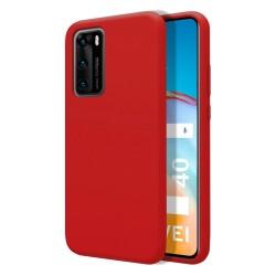 Funda Silicona Líquida Ultra Suave para Huawei P40 color Roja