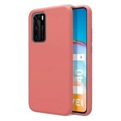 Funda Silicona Líquida Ultra Suave para Huawei P40 color Rosa