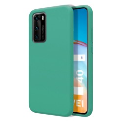 Funda Silicona Líquida Ultra Suave para Huawei P40 color Verde