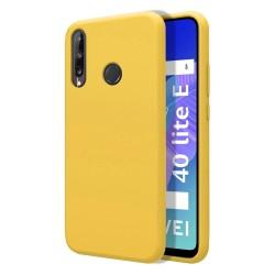 Funda Silicona Líquida Ultra Suave para Huawei P40 Lite E color Amarilla