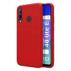 Funda Silicona Líquida Ultra Suave para Huawei P40 Lite E color Roja