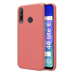 Funda Silicona Líquida Ultra Suave para Huawei P40 Lite E color Rosa