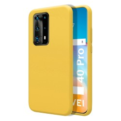 Funda Silicona Líquida Ultra Suave para Huawei P40 Pro color Amarilla