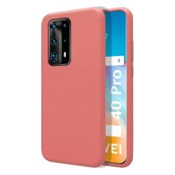 Funda Silicona Líquida Ultra Suave para Huawei P40 Pro color Rosa
