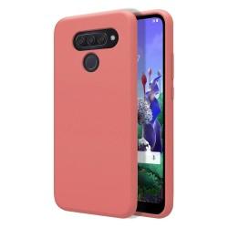 Funda Silicona Líquida Ultra Suave para Lg Q60 / K50 color Rosa