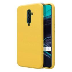 Funda Silicona Líquida Ultra Suave para Oppo Reno 2Z color Amarilla