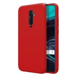 Funda Silicona Líquida Ultra Suave para Oppo Reno 2Z color Roja