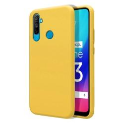 Funda Silicona Líquida Ultra Suave para Realme C3 color Amarilla