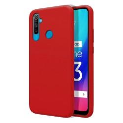 Funda Silicona Líquida Ultra Suave para Realme C3 color Roja