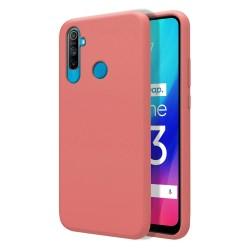Funda Silicona Líquida Ultra Suave para Realme C3 color Rosa