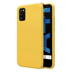 Funda Silicona Líquida Ultra Suave para Samsung Galaxy A41 color Amarilla