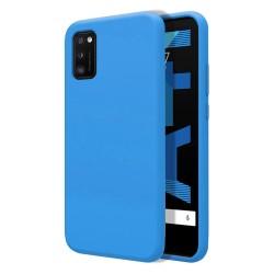 Funda Silicona Líquida Ultra Suave para Samsung Galaxy A41 color Azul