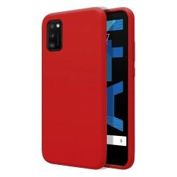 Funda Silicona Líquida Ultra Suave para Samsung Galaxy A41 color Roja