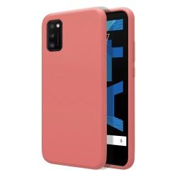 Funda Silicona Líquida Ultra Suave para Samsung Galaxy A41 color Rosa