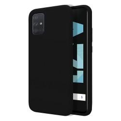 Funda Silicona Líquida Ultra Suave para Samsung Galaxy A71 color Negra