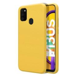 Funda Silicona Líquida Ultra Suave para Samsung Galaxy M30s / M21 color Amarilla