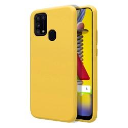 Funda Silicona Líquida Ultra Suave para Samsung Galaxy M31 color Amarilla